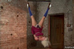 1000146 Cherry Torn In Ankle Suspension