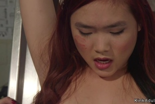 Asian nurse is whipped and ass fingered