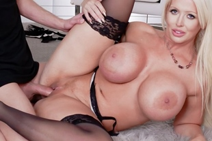 Fucking session with super busty MILF Alura Jenson