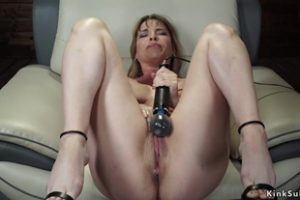 1048045 Busty Milf Fucks Machine In Armchair