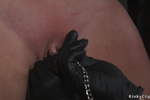 Busty anal slave is brutal fucked