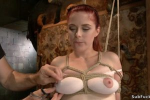 1151854 Tied Boobs Redhead Slave Anal Toyed