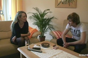 German Stepmom Teach Young Virgin Guy How to Fuck when