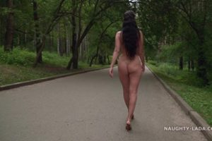 1214647 Naughtylada Walk Without Clothes