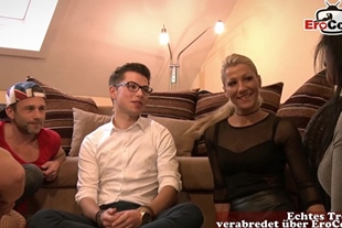 german chubby blohde teen with glasses seduced