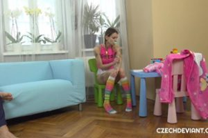 1227897 Tattooed Girl In Baby Clothes Rammed