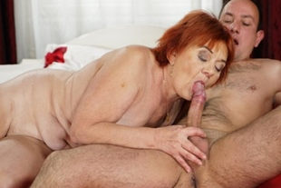 Granny Marsha craves for young cock