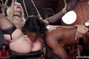 1255848 Blonde And Ebony Are Anal Fucked Orgy