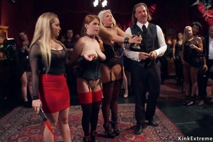 Pawg blonde anal fucked at bdsm party