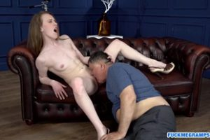 1300949 Pale Teen Slut Sucking And Riding An Old Cock