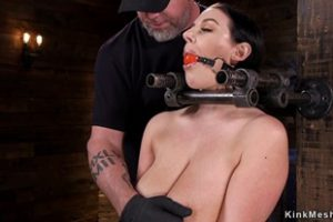 746940 Strapped Big Tits Babe In Device Bondage