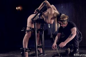 792048 Stunning Blonde In Strange Devices Bondage