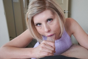 Amber slobbers from Ikes balls to cock