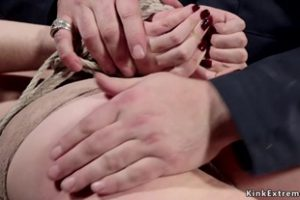 816316 Tiny Tits Blonde Shaved Pussy Toyed In Bondage
