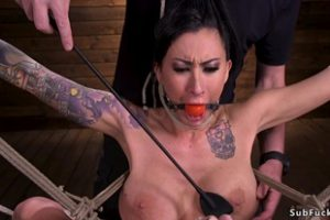 833214 Alt Busty Slave In Hogtie With Bamboo