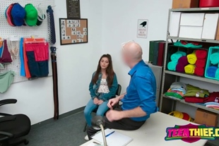 Hot girl gets into the detention room