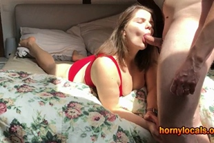 Busty MILF and hubby in an afternoon fuck