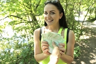PublicAgent · Bright young babe creampied outside